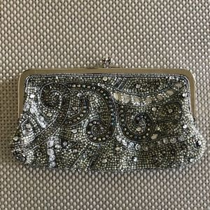 Lord & Taylor Beaded Sequin Clutch